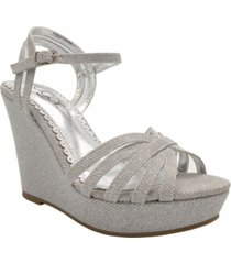 sugar women's capricorn platform wedge sandals women's shoes