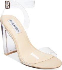steve madden women's camille lucite dress sandals