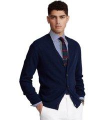 polo ralph lauren men's cotton-linen v-neck cardigan