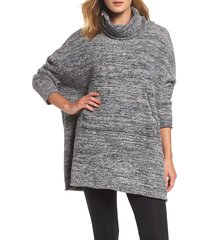 women's barefoot dreams cozychic lounge pullover, size one size - blue