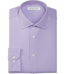 collection by michael strahan active wear classic fit dress shirt purple check