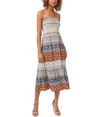 msk strapless maxi dress