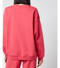 h2ofagerholt women's cream doctor 1 o'neck sweatshirt - raspberry - l