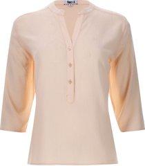 blusa unicolor 3/4 color naranja, talla s