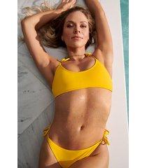 hunkemöller napa bikini-crop top gul