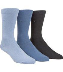 calvin klein men's socks, combed flat knit crew 3 pack