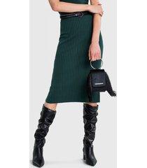 falda lez a lez verde - calce ajustado
