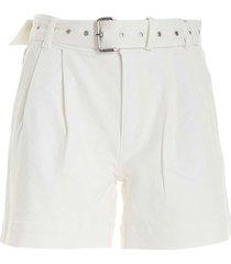 michael kors white bermuda shorts