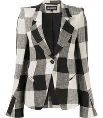 ann demeulemeester structured shoulder blazer - black
