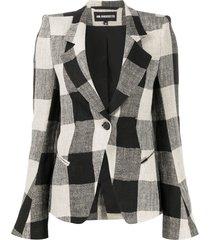 ann demeulemeester structured shoulder blazer - black