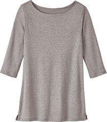 linnen-jersey shirt, zilvergrijs 40