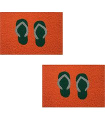2 capachos p/ porta decorativo 60x1,2m chinelo39 - laranja - feminino - dafiti