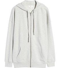 women's bp. women's zip-up hoodie, size large - grey