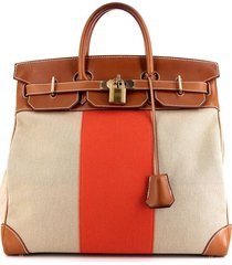 hermès 2013 pre-owned haut à courroies travel bag - beige