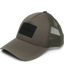 calvin klein trucker mesh-panel cap - green