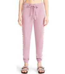 madden girl juniors' french terry tie-dye joggers