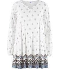 tunica in maglina a maniche lunghe (bianco) - bpc bonprix collection