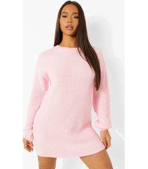 official gebreide sweatshirt jurk, pastel pink