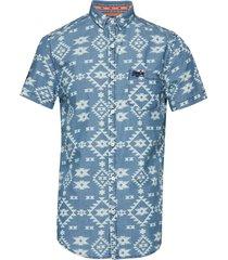 miami loom shirt kortärmad skjorta blå superdry