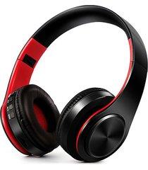 audifonos bluetooth inalambricos estereo plegables rojo