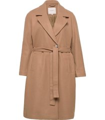 cartina wool wrap coat otw yllerock rock brun only carmakoma