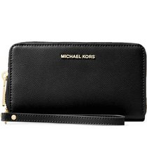 michael michael kors large flat phone case black wallet