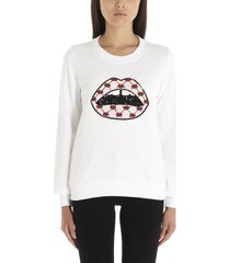markus lupfer sequin iconic lip sweatshirt