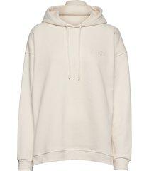 software isoli hoodie trui crème ganni