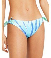 tommy hilfiger tie-dye side tie hipster bottoms women's swimsuit