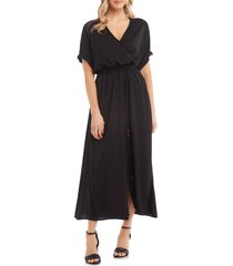 women's karen kane cuffed sleeve midi dress