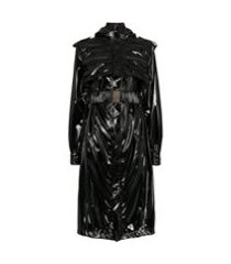 faith connexion trench coat com cinto - preto