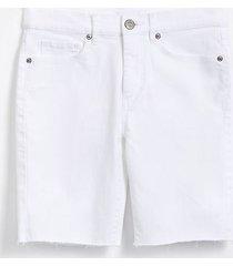loft curvy frayed skinny bermuda shorts in white