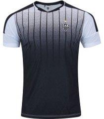 camiseta do atlético-mg strike - masculina - branco/preto