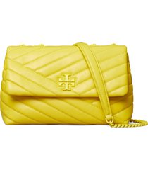 tory burch kira chevron quilted leather crossbody bag - yellow