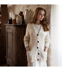 aran cardigan by daryl k cream medium