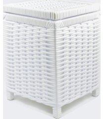 lixeira / papeleiro lavabo e escritório fibra sintetica 22x22x30 - branco
