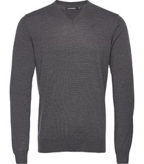 lymann merino v-neck sweater gebreide trui v-hals grijs j. lindeberg