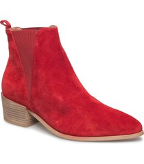 karen shoes boots ankle boots ankle boot - heel röd pavement