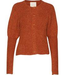 hairy knit puffed cardigan gebreide trui cardigan oranje by ti mo