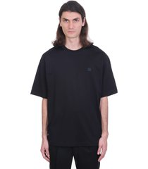 acne studios exford face t-shirt in black cotton
