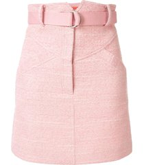 manning cartell high-waisted belted skirt - pink