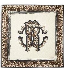 leopard-print silk scarf