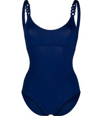 eres chainette tank one-piece - blue