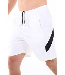pantaloneta deportiva blanca