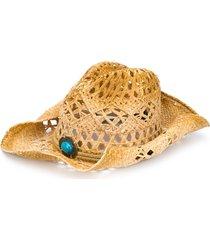 jessie western straw western hat - brown