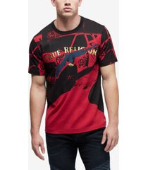 true religion men's foil engineered print t-shirt