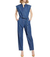 women's 7 for all mankind denim jumpsuit, size x-large - blue