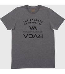 camiseta balance arch rvca - cinza - masculino - dafiti