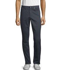 saks fifth avenue men's 5 pocket sateen pants - khaki - size 38 32