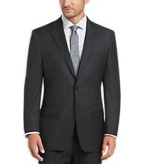 joseph abboud charcoal plaid modern fit suit